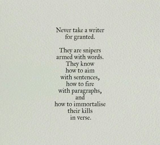 Don't mess with Writers